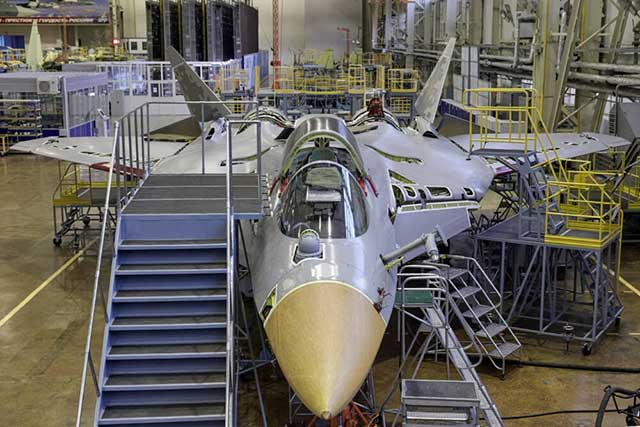 Russia-showed-almost-assembled-second-production-Su-57-fighter-[photos]-1
