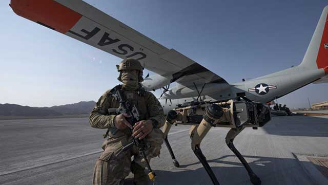 US Air Force tests robot dogs for airfield guarding
