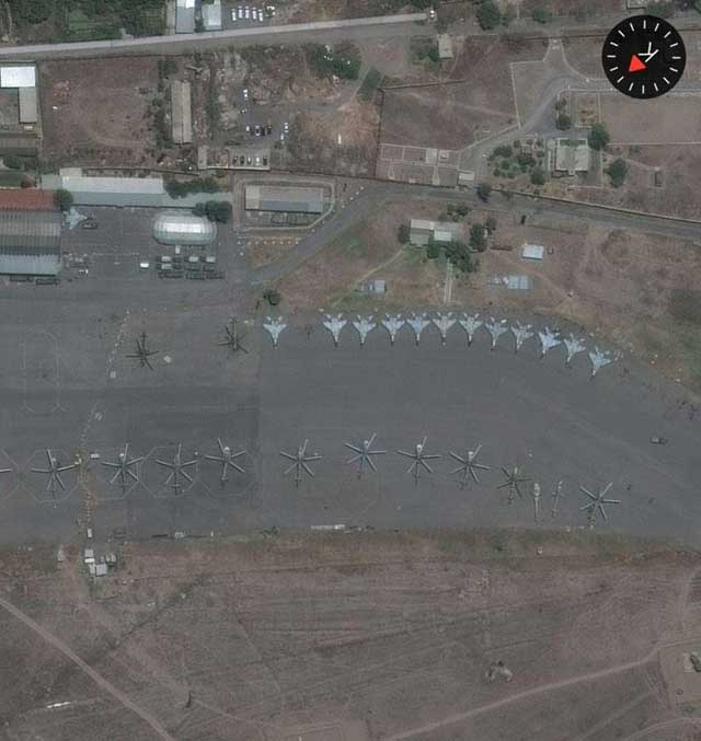 Russia transferred at least 13 MiG-29 fighters to Armenia, new satellite images show