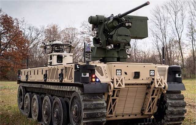 Americans did it and put into service the first robotic combat vehicle