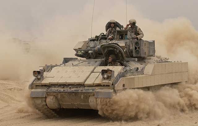 Bradley's US infantry vehicle failed the tests