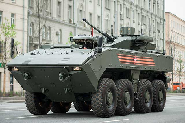 Russia unveils Bumerang amphibious vehicle for the first time in India
