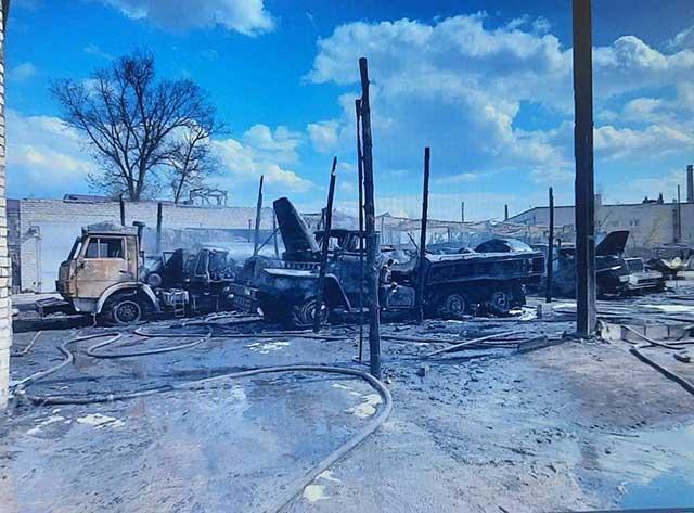 UAV struck a Ukrainian battalion near Luhansk and destroyed equipment