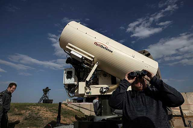 Does Israel use a laser system against Hamas rockets?
