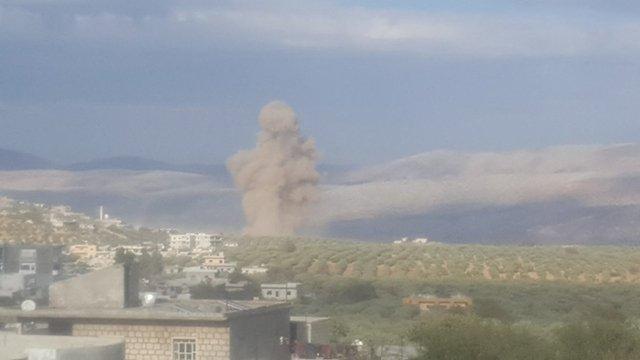 Russian Su-24 carried out heavy bombing near Turkey