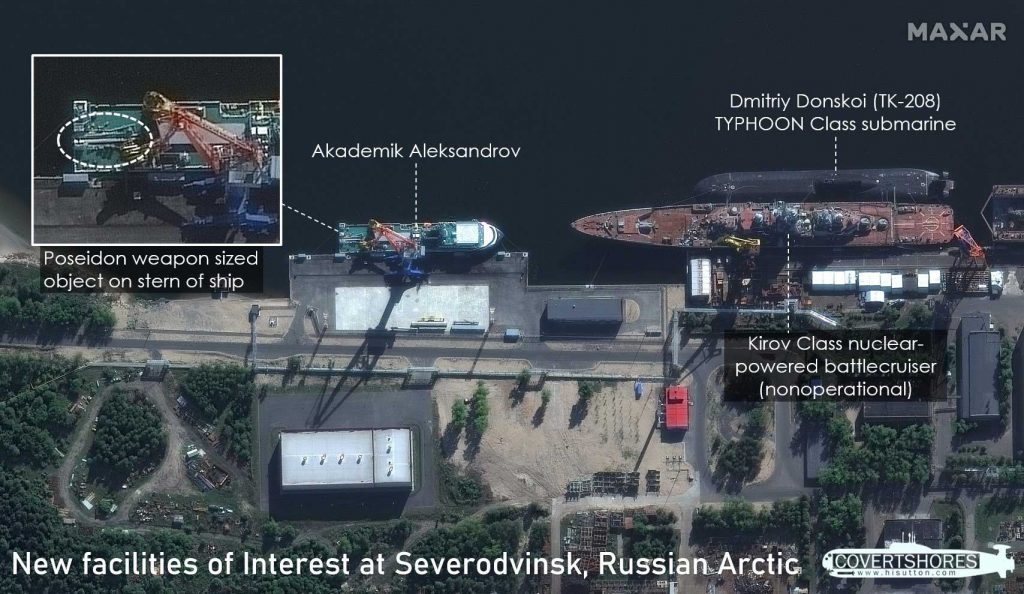 Satellite revealed the carrier of Russian nuclear 'monster' Poseidon